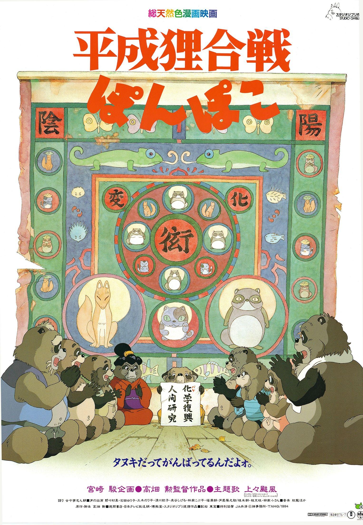 Poster Pom Poko