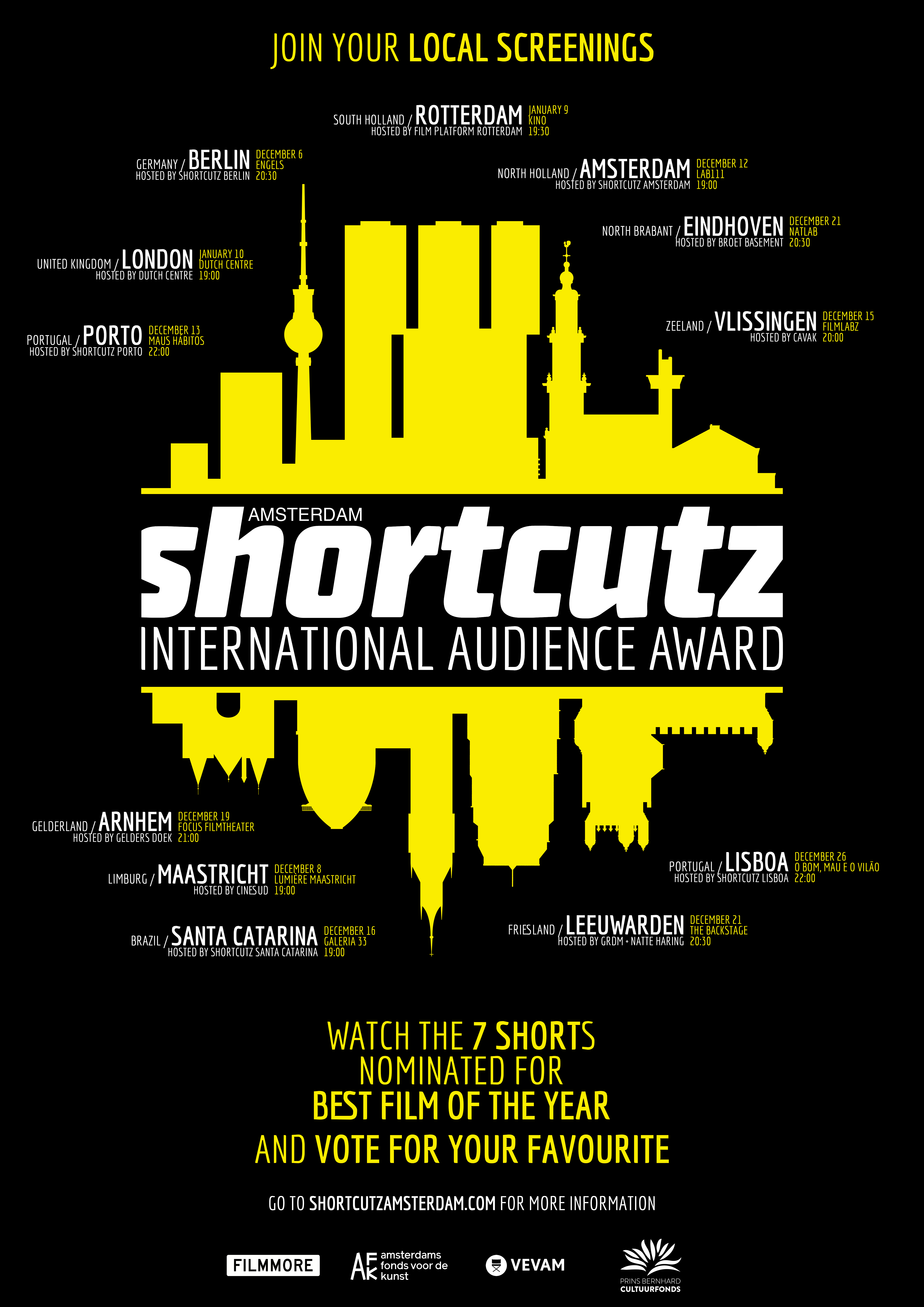 Poster Shortcutz: Amsterdam International Audience Award