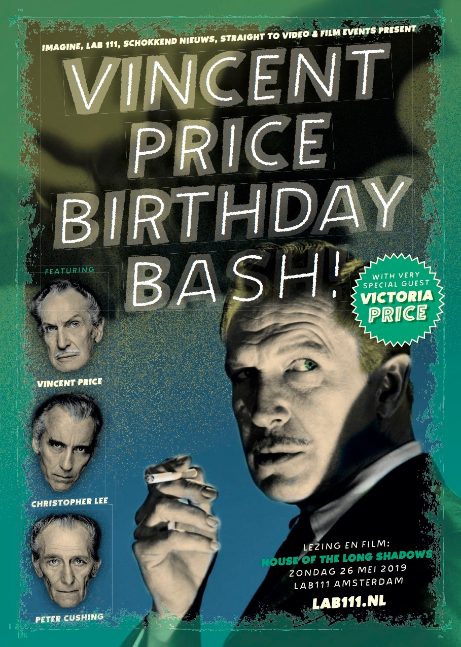 Poster Vincent Price Birthday Bash! (Lezing Victoria Price)