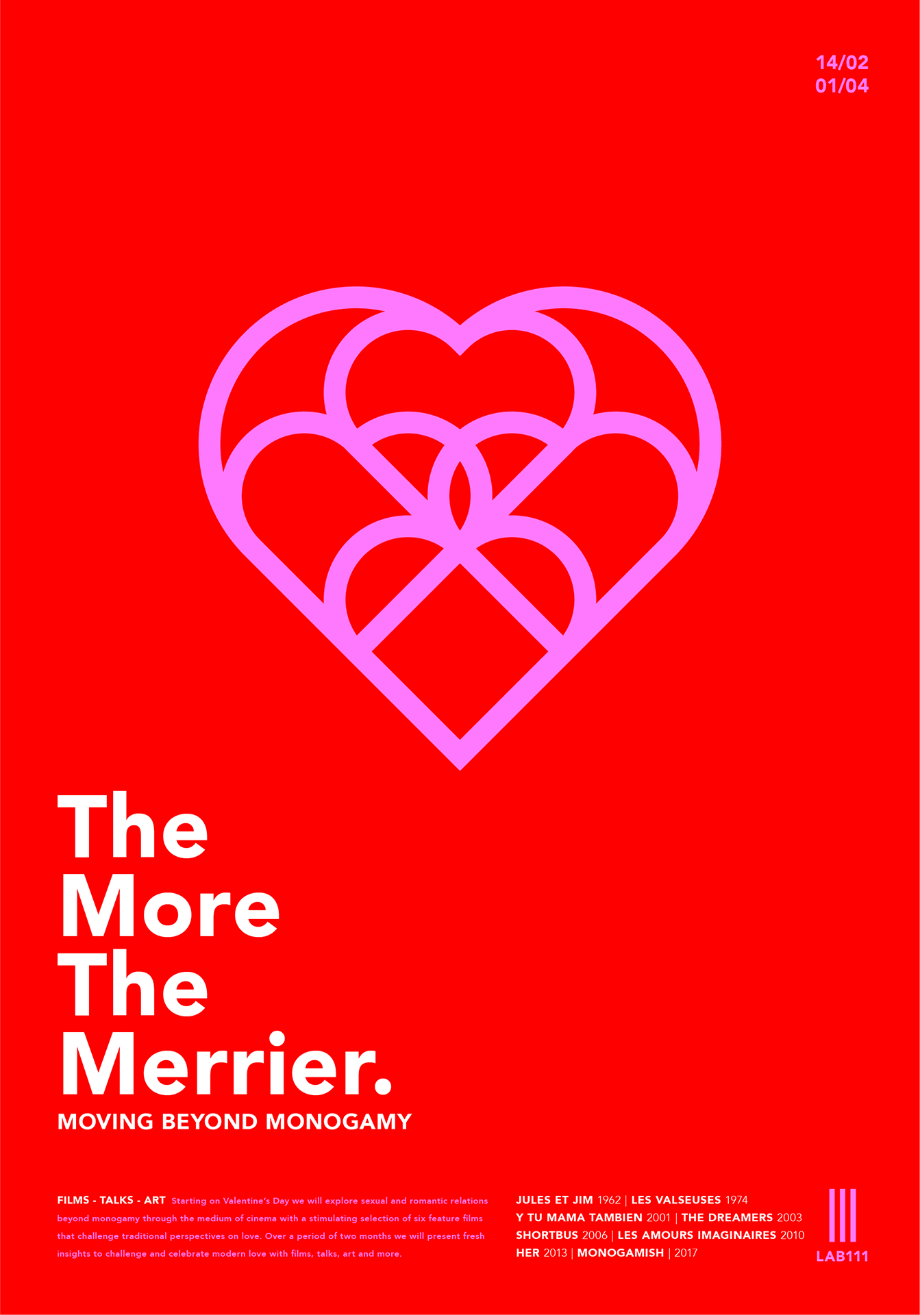 Poster The More The Merrier Talk: Is Monogamie Nog Van Deze Tijd?