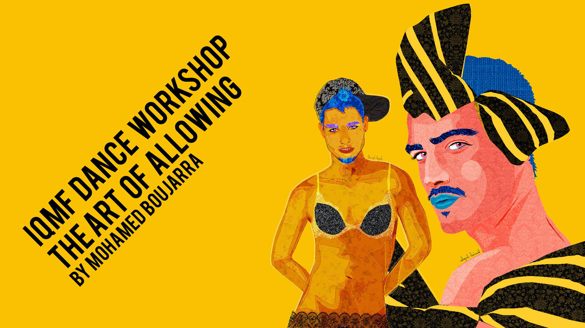 Poster IQMF Workshops: Art Of Allowing with Mohamed Boujarra
