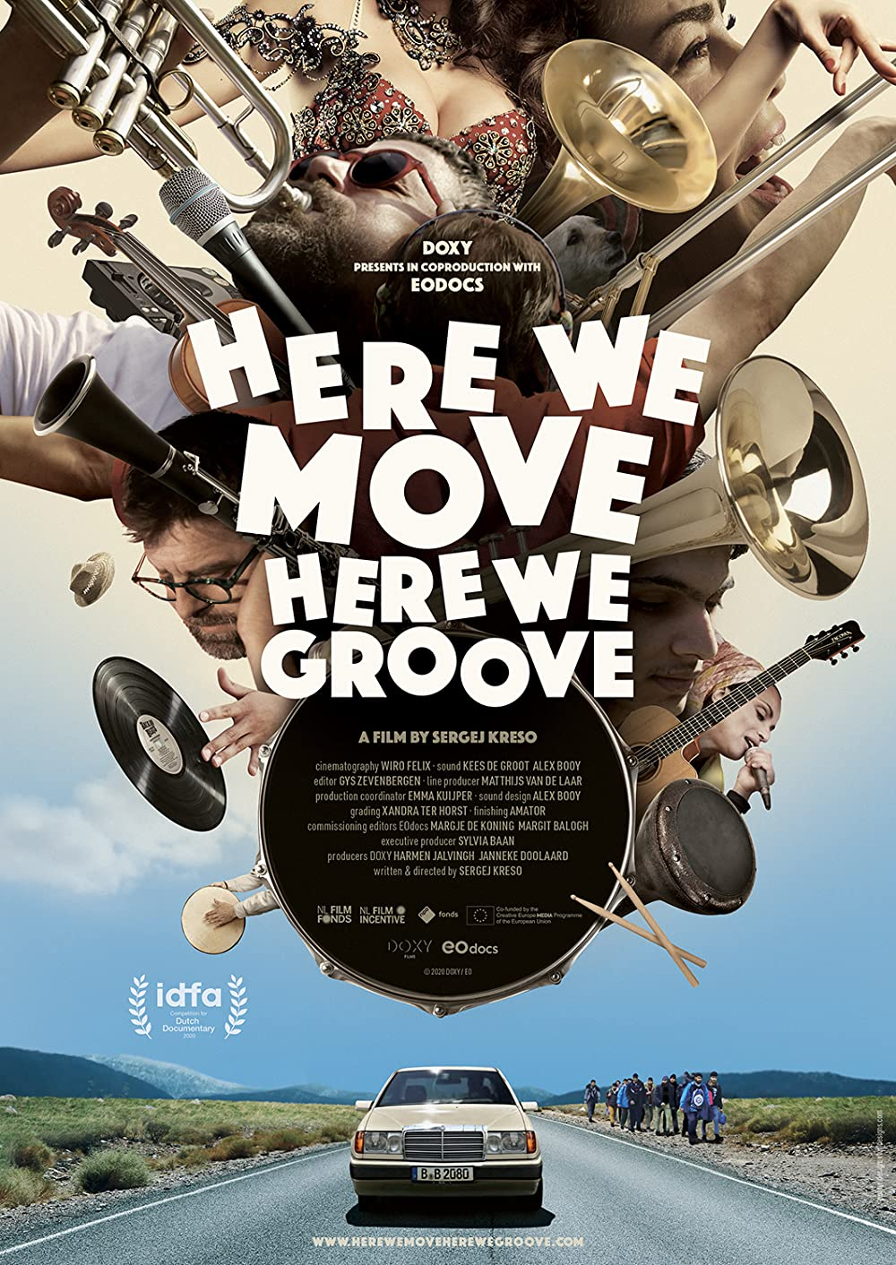 Poster ADE: In-Edit presents Here We Move, Here We Groove + Q & A